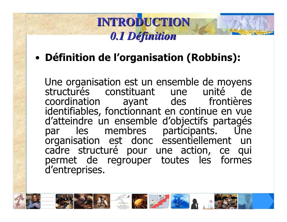 Economie organisation de l 39 entreprise for Definition de l