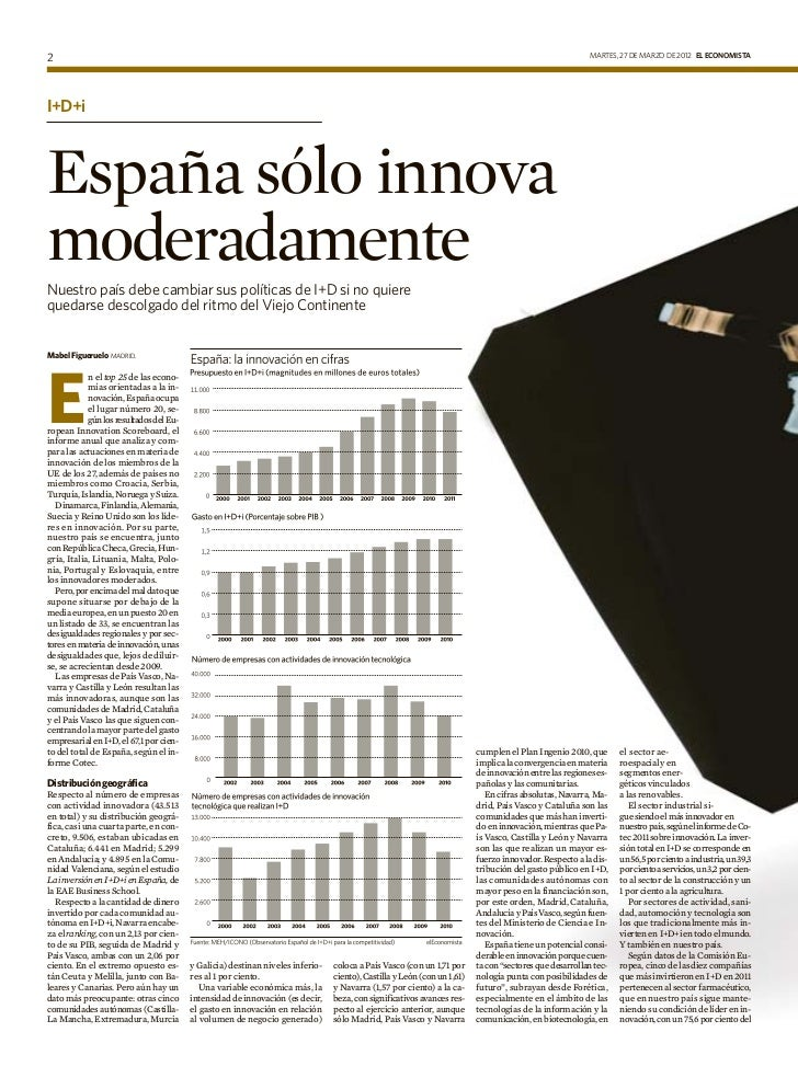 España sólo innova moderadamente