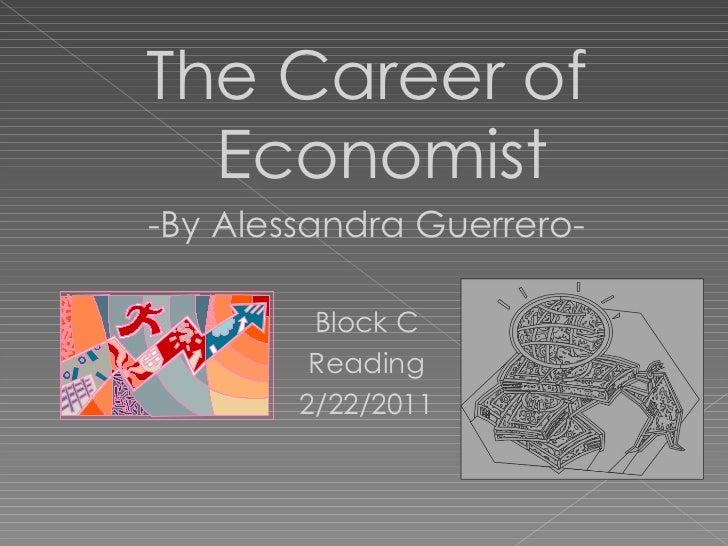 Career of Economist