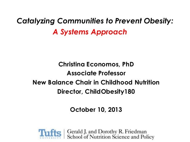 Catalyzing Communities to Prevent Obesity: A Systems Approach  Christina Economos, PhD Associate Professor New Balance Cha...