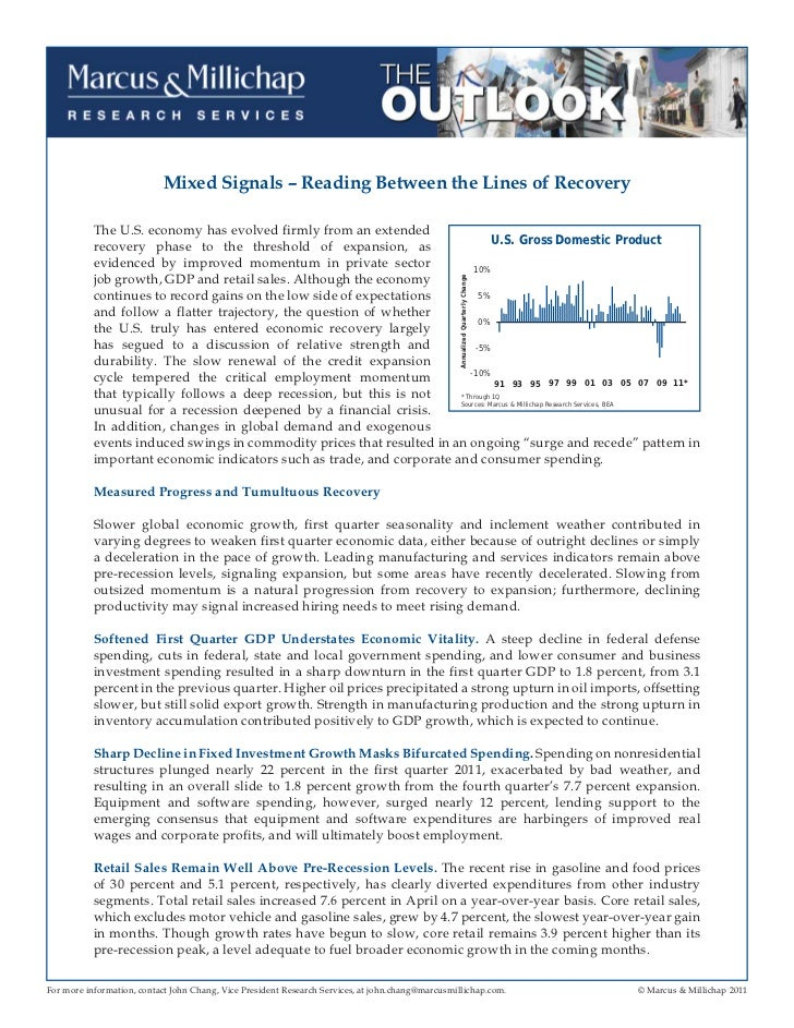 Economy And Apartment Outlook - May 2011