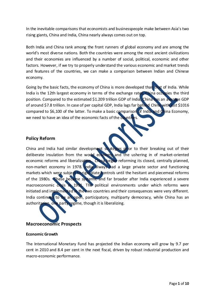 comparative study of india and china A comparative study of regulatory trends of pharmaceuticals in brazil, russia, india and china (bric) countries shivam vashisth, govind singh, and arun nanda  a comparative account of regulatory trends of pharmaceuticals in bric countries is given in table 1.
