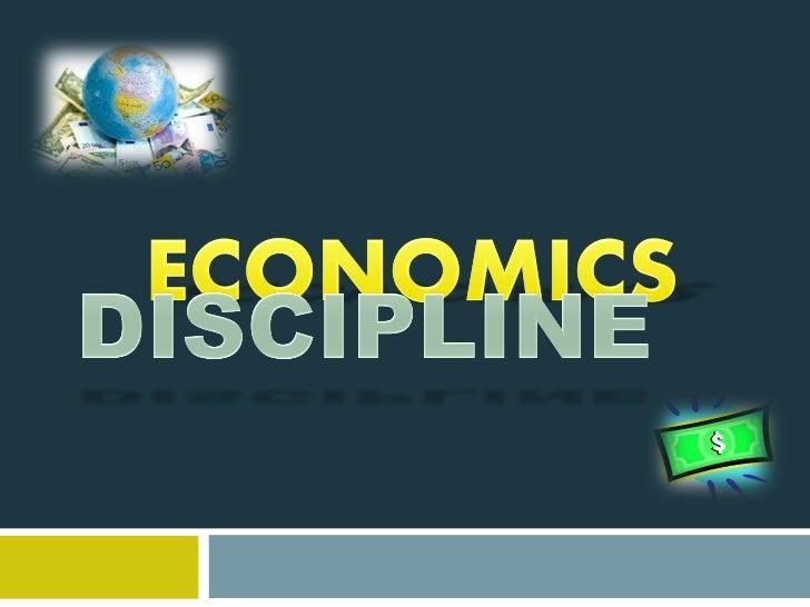Economy discipline