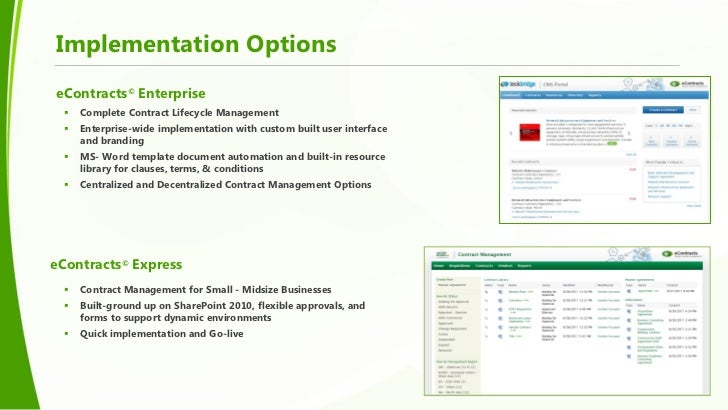 Addressing contract management needs with sharepoint for Sharepoint implementation plan template