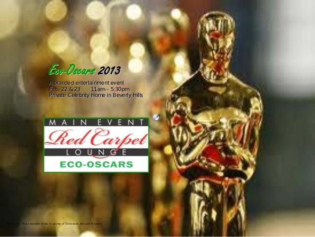 Eco Oscars 2013