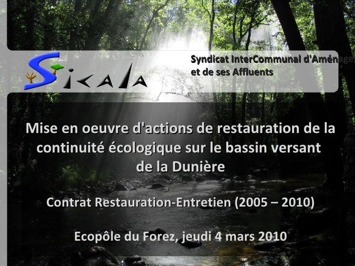 Ecopole du forez effacer les seuils inutiles mars 2010 optimised
