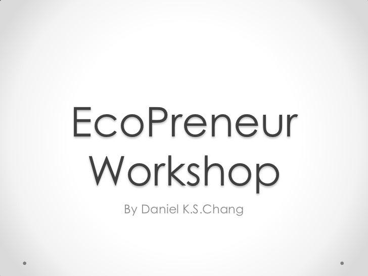 Eco preneurs program v2