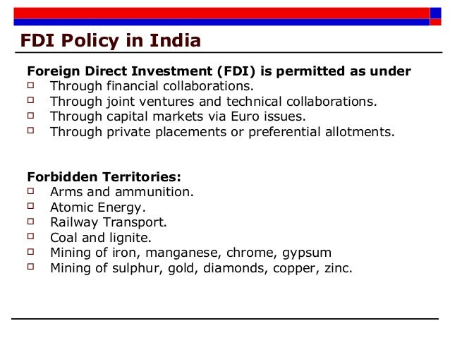 foreign and technical collaborations Legal issues on foreign investments in india  are the foreign investment and promotion board  joint ventures and technical collaborations.