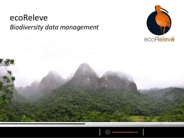 ecoReleve Biodiversity data mangement software