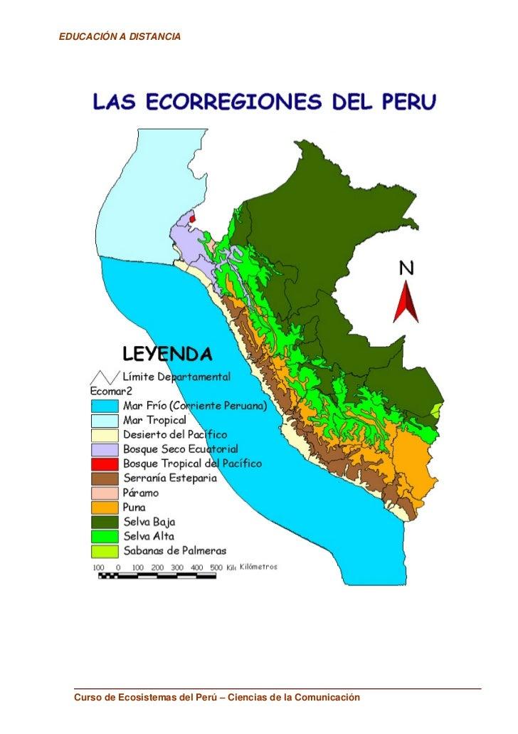 EDUCACIÓN A DISTANCIA       Curso de Ecosistemas del Perú – Ciencias de la Comunicación