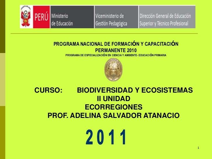 PROGRAMA NACIONAL DE FORMACIÓN Y CAPACITACIÓN                  PERMANENTE 2010         PROGRAMA DE ESPECIALIZACIÓN EN CIEN...