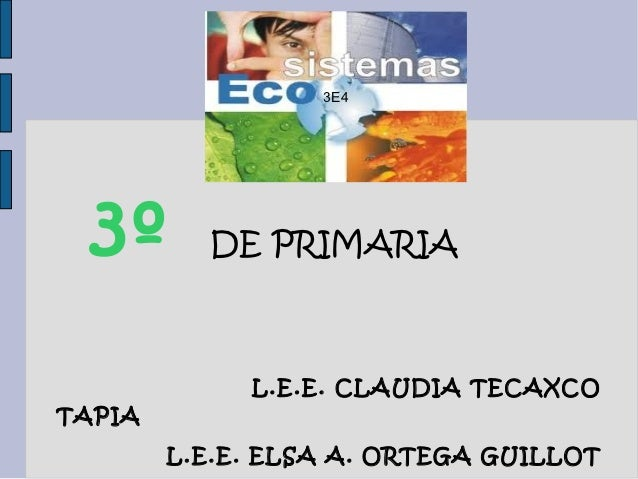 3E4  3º      DE PRIMARIA             L.E.E. CLAUDIA TECAXCOTAPIA        L.E.E. ELSA A. ORTEGA GUILLOT