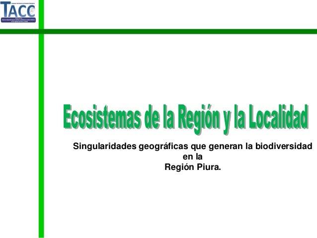 Ecosistemas de la Region y la Localidad de Piura-Proyecto TACC
