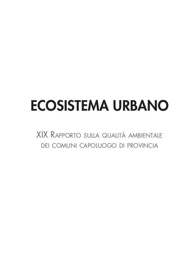 Ambiente - Ecosistema urbano 2012