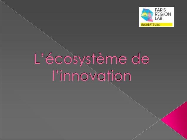 L'écosystème de  l'innovation