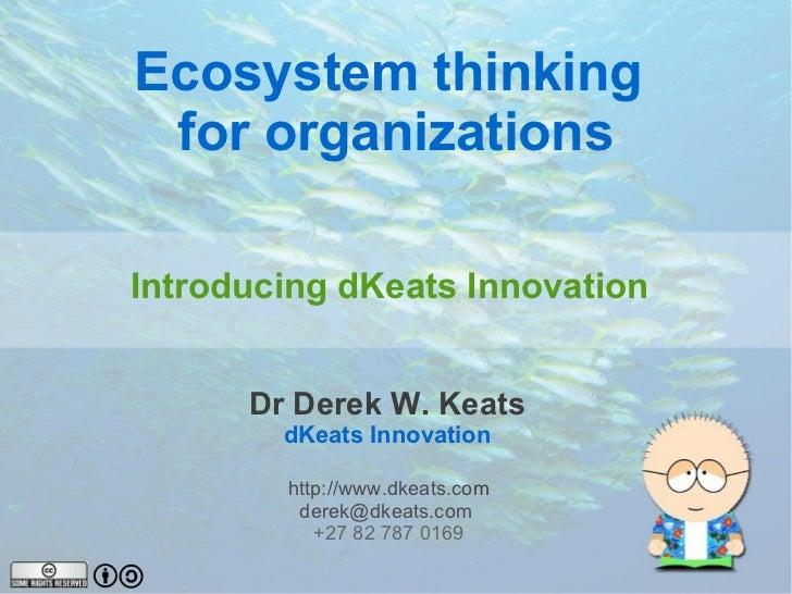 Ecosystem thinking  for organizations