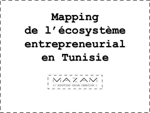 Mapping de l'écosystème entrepreneurial en Tunisie