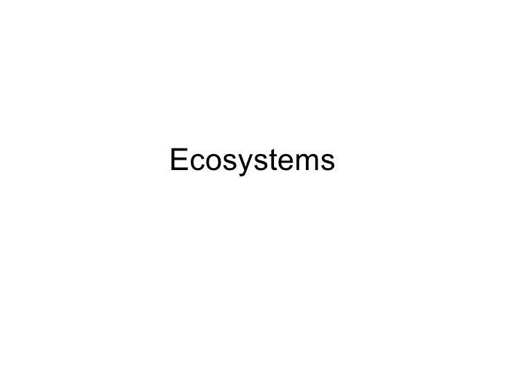 Ecosystems Leson 1