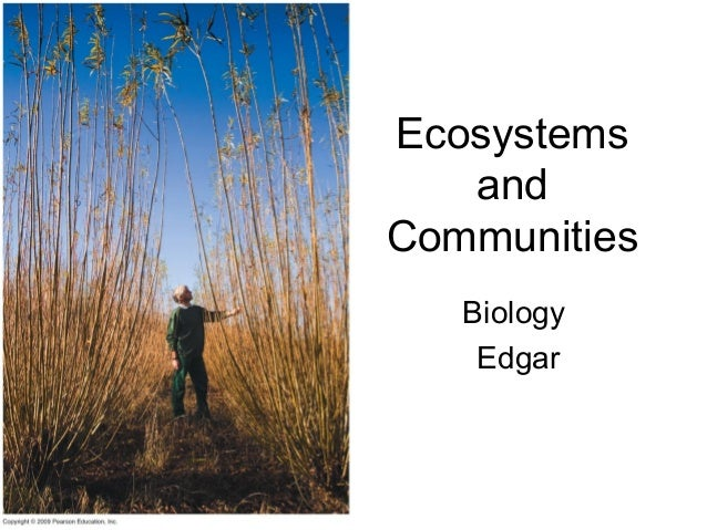 Biology - Ecosystems and communities 1011