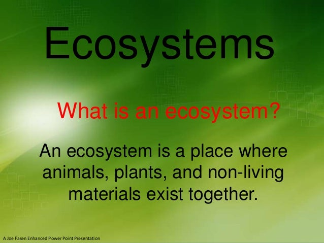 Ecosystems For Grades 4-6