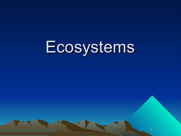 Ecosystems pp