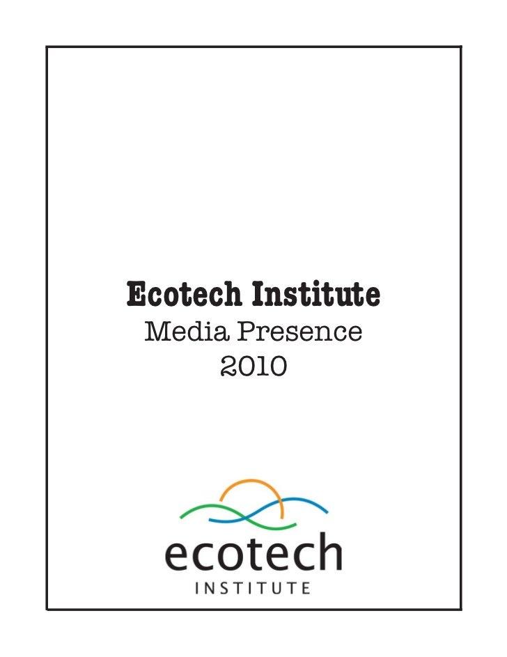 Ecotech Institute 2010 Clipbook
