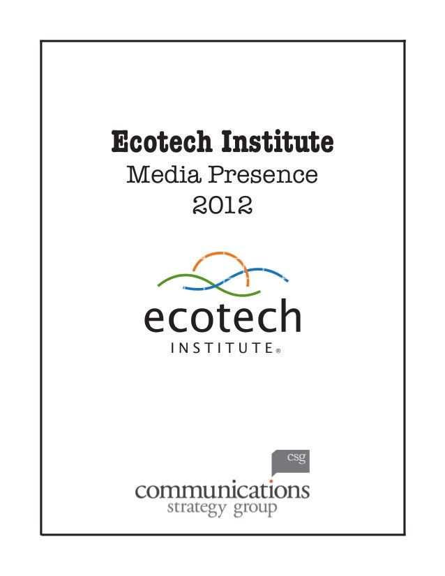 Ecotech Institute 2012 Clipbook
