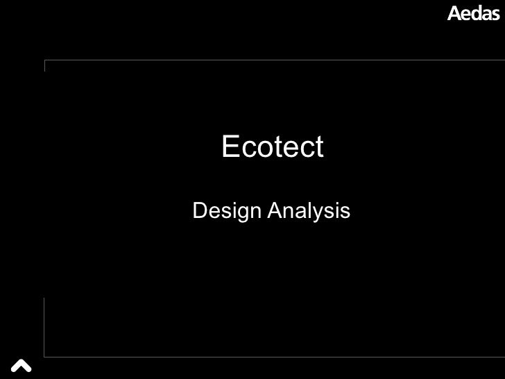 Ecotect Design Analysis
