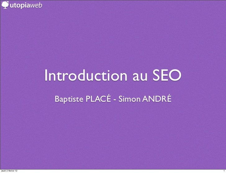 Intervention SEO Ecotic