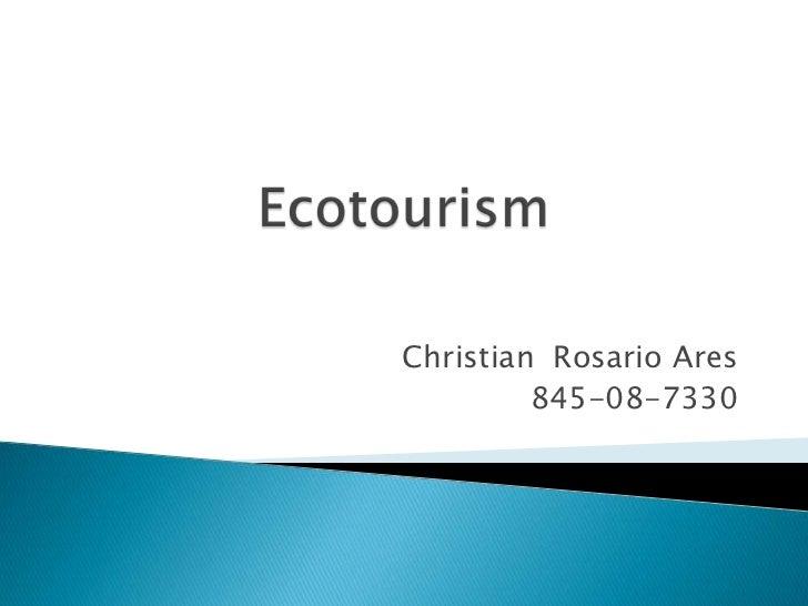 Christian Rosario Ares         845-08-7330