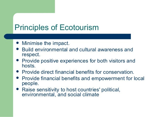 principles of tourism socio economic environmental socio cultural Afterwards, a series of principles and instruments for sustainable tourism are   social and economic environmental integrity, while ensuring the exploitation of   the ecological, social and cultural value and capacity of each region must be.