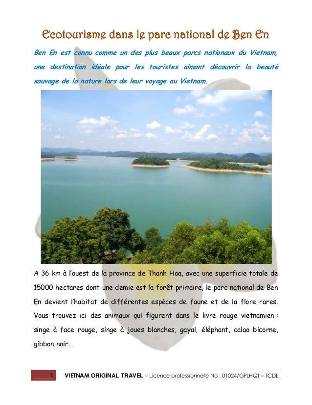 Ecotourisme dans le parc national de Ben En Ben En est connu comme un des plus beaux parcs nationaux du Vietnam, une desti...