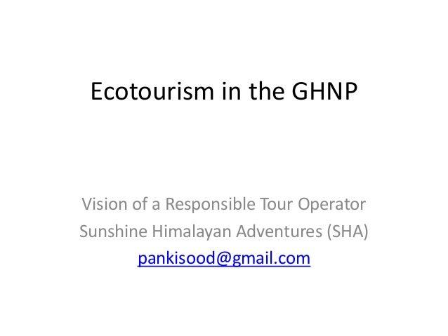 Ecotourism in Great Himalayan National Park - Views of Ecotour Operator