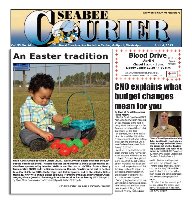www.cnic.navy.mil/gulfportVol. 53 No. 14                           Naval Construction Battalion Center, Gulfport, Mississi...