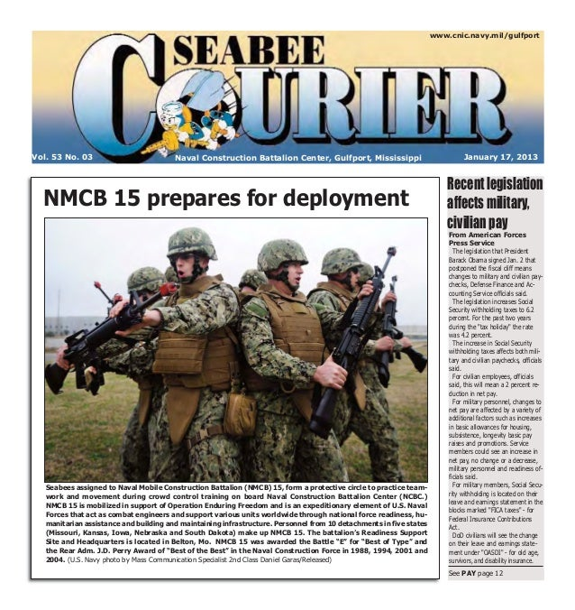 Seabee Courier Jan. 17, 2013
