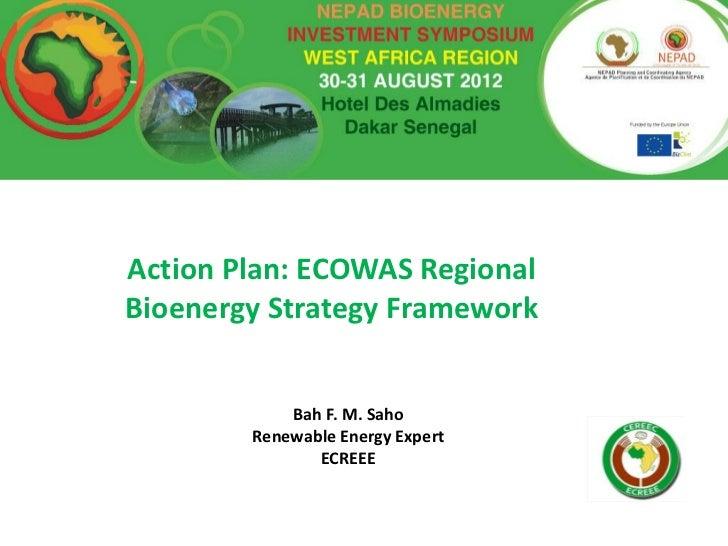 Ecowas regional bioenergy_action_plan-nepad_inv_workshop_dakar