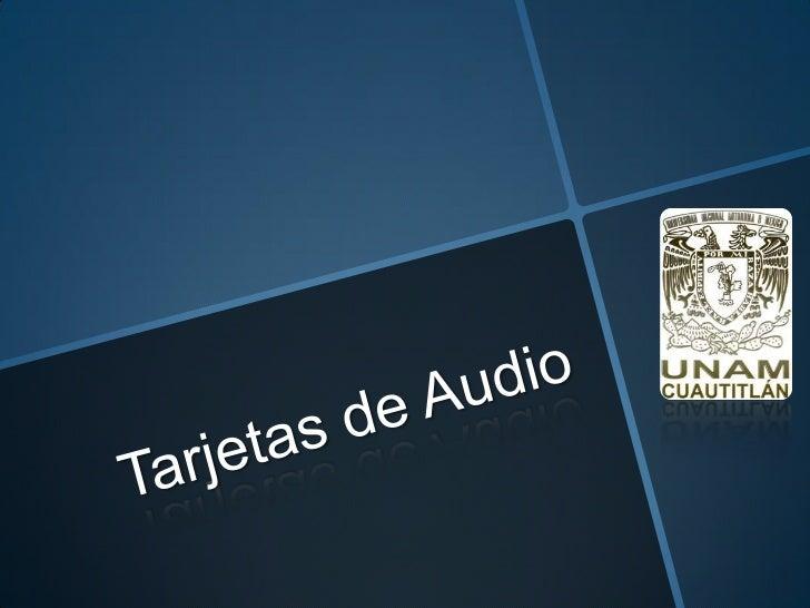 DEFINICIONUna tarjeta de sonido es un pequeño dispositivohardware que permite a tu ordenador procesarsonido tanto de entra...