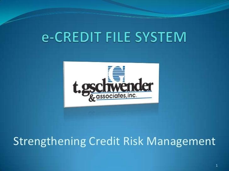 Strengthening Credit Risk Management                                   1