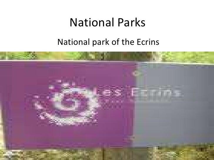 National Parks<br />National park of the Ecrins<br />