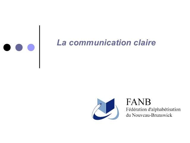 La communication claire