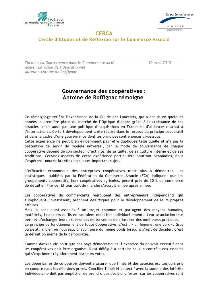 En partenariat avec                                              CERCA         Cercle d'Etudes et de R•flexion sur le Comm...