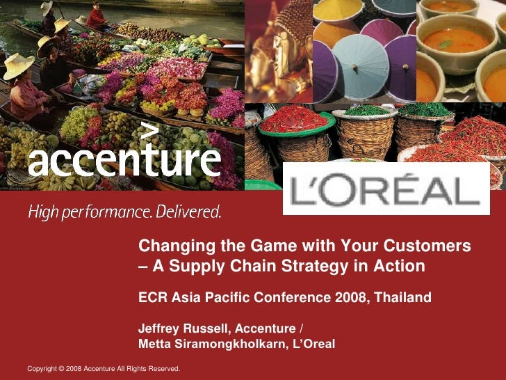 Changing the Game with Your Customers                                   – A Supply Chain Strategy in Action               ...
