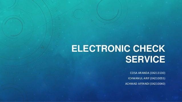 Electronic Check Service