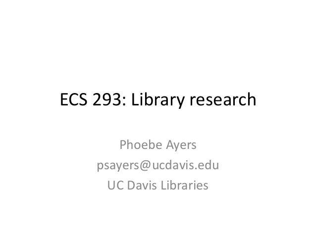 Library tips for new researchers in computer science