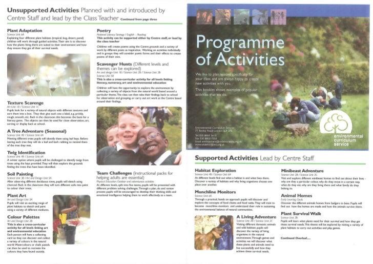 Ecs activities sheet