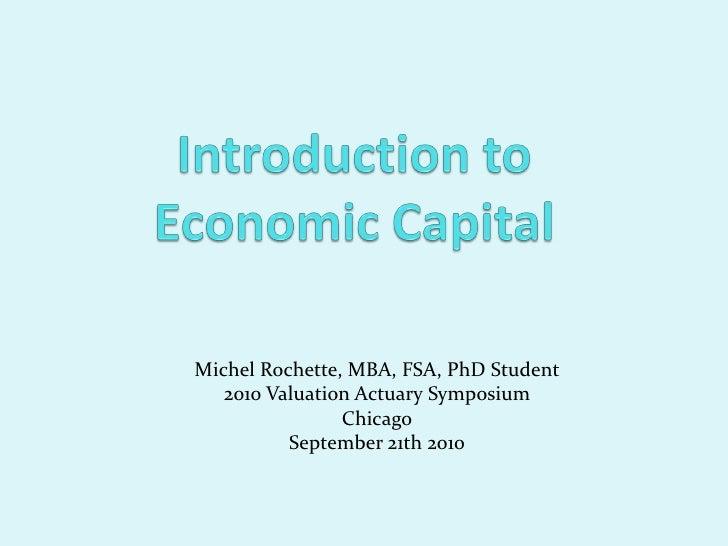 Introduction to economic capital