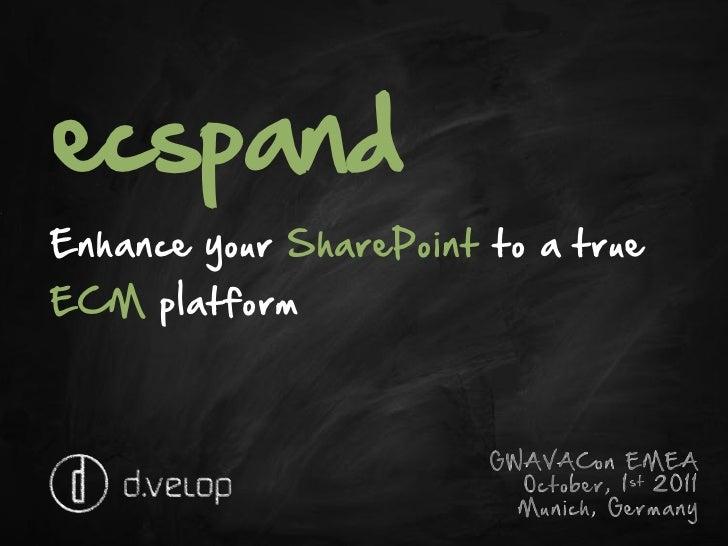 ecspand - Enhance your SharePoint to a true ECM Platform