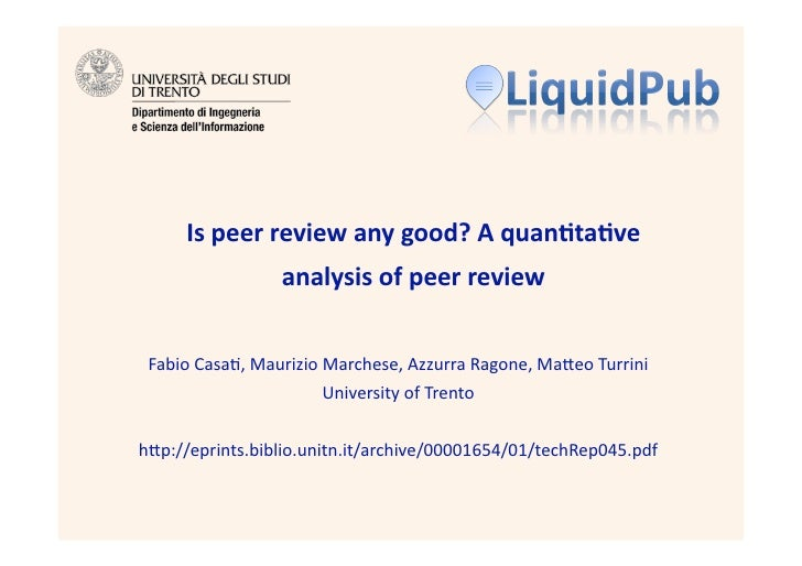 Is peer review any good? A quantitative analysis of peer review