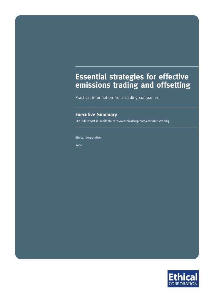 Essential strategies for effective emissions trading and offsetting Practical information from leading companies    Execut...
