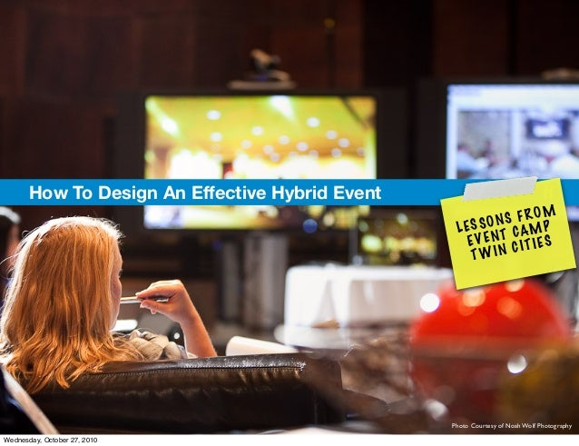 How To Design An Effective Hybrid Event ff LESSONS FROM EVENT CAMP TWIN CITIES Photo Courtesy of Noah Wolf Photography Wed...